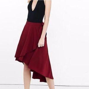 NWT Express Hi Lo Wrap Skirt 6